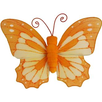 Schmetterling mit  Clip orange X0317/O